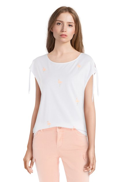 T-shirt blanc avec flamants roses