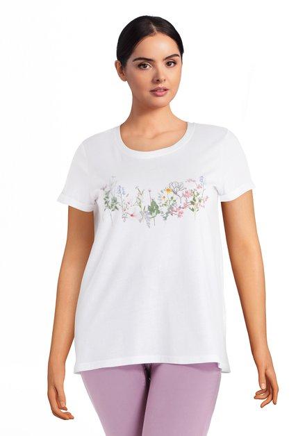T-shirt blanc avec fleurs