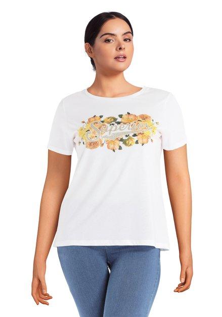 T-shirt blanc avec inscription «Superior»