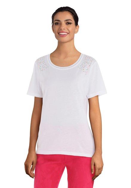 T-shirt blanc avec strass