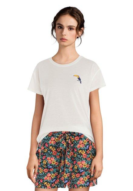 T-shirt blanc avec toucan