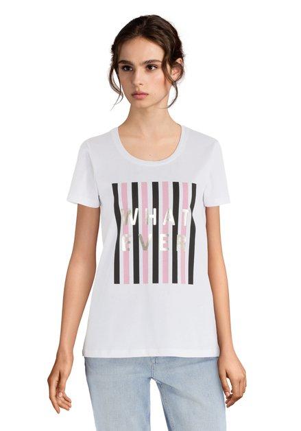 T-shirt blanc « Whatever »