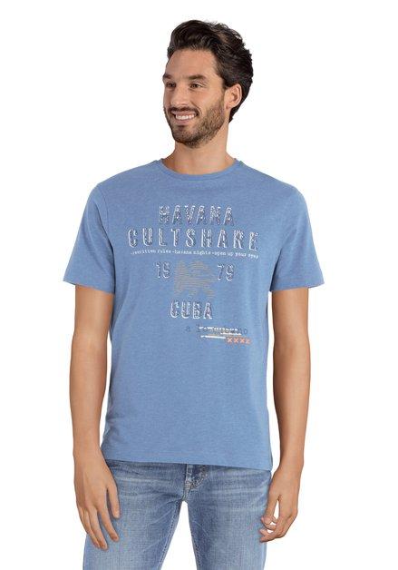 T-shirt bleu avec imprimé