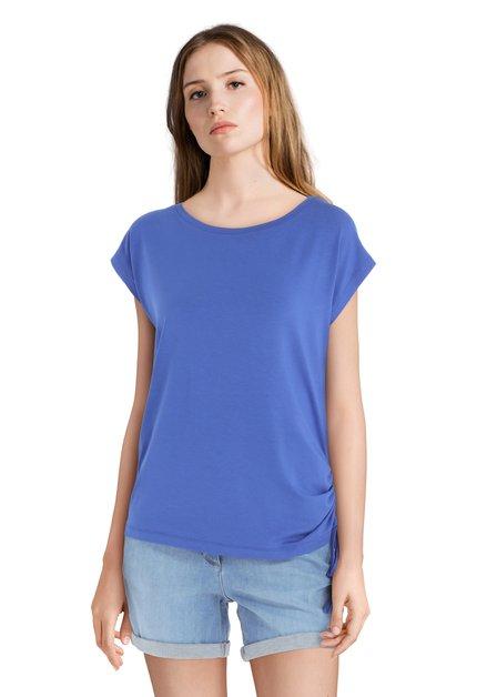T-shirt bleu avec lacet
