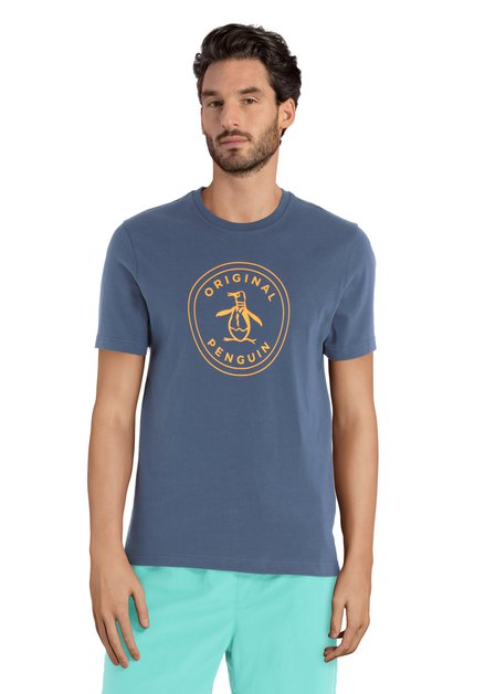 T-shirt bleu avec pingouin