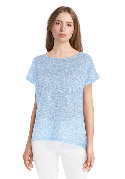 T-shirt bleu clair à fleurs blanches