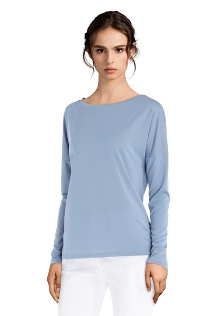 T-shirt bleu clair avec encolure ronde
