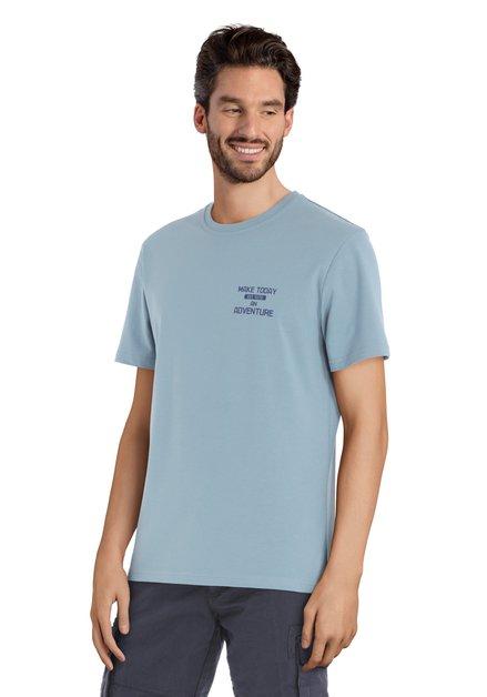 T-shirt bleu clair avec imprimé