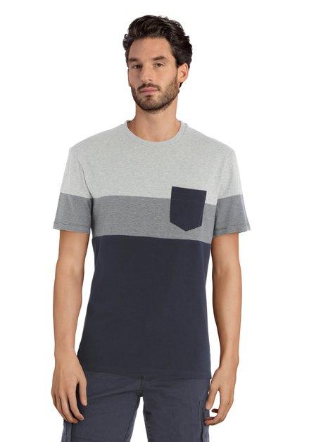 T-shirt bleu et gris