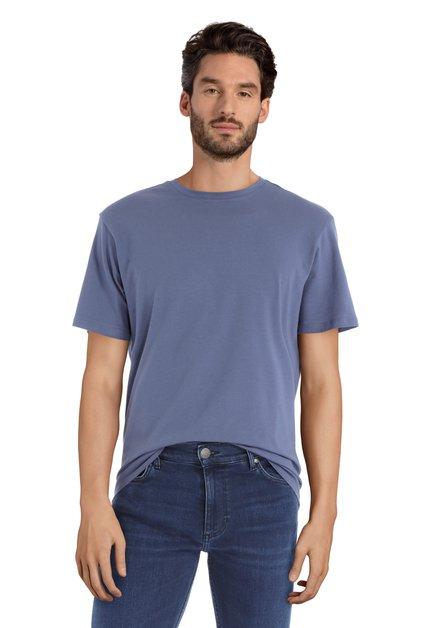 T-shirt bleu foncé à encolure ronde