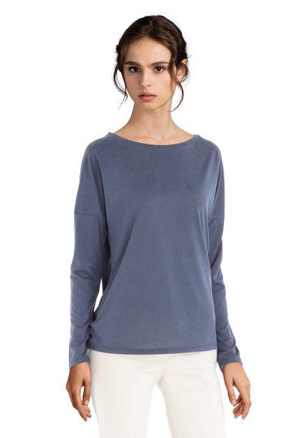 T-shirt bleu foncé avec encolure ronde