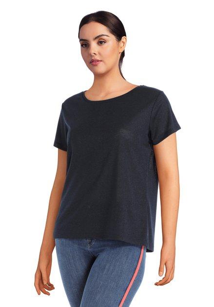 T-shirt bleu foncé avec lurex