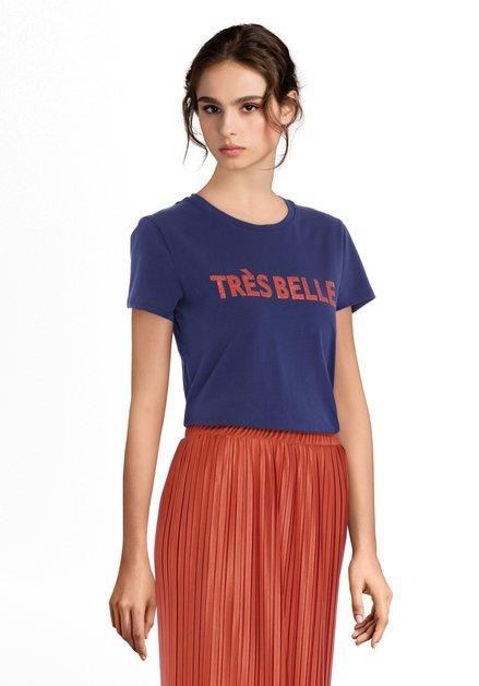 T-shirt bleu foncé 'Très belle'