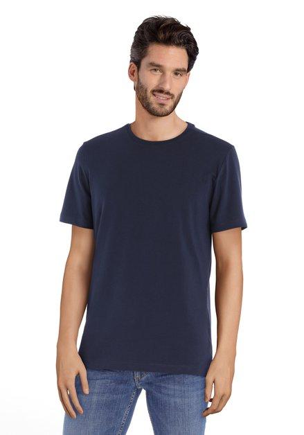 T-shirt bleu marine à col rond