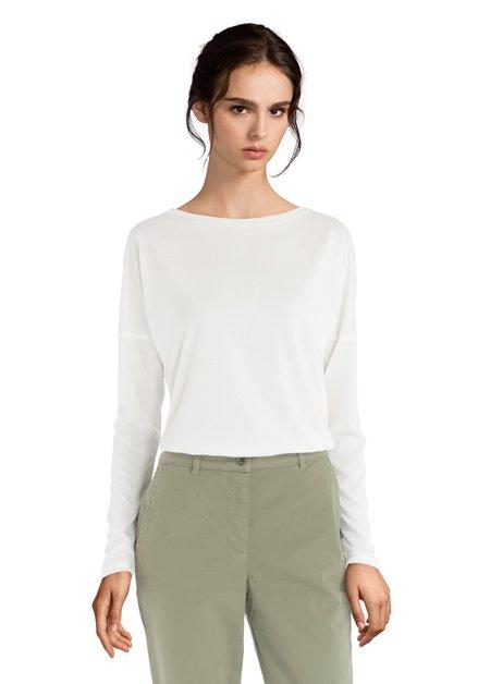 T-shirt écru avec encolure ronde