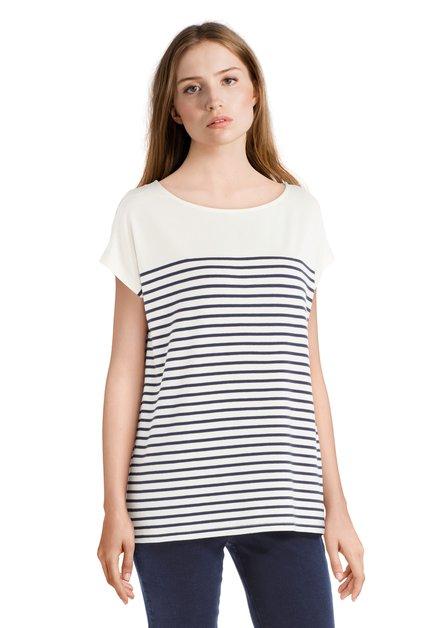 T-shirt écru ligné basique