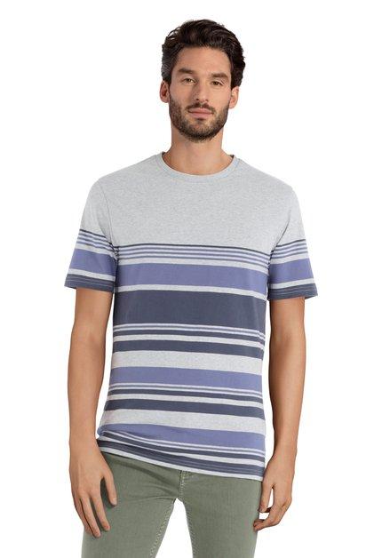 T-shirt gris à rayures