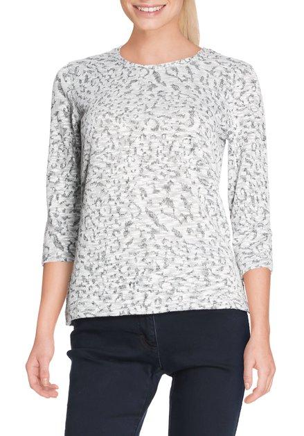 T-shirt gris et blanc mélangés