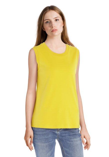 T-shirt jaune à col rond