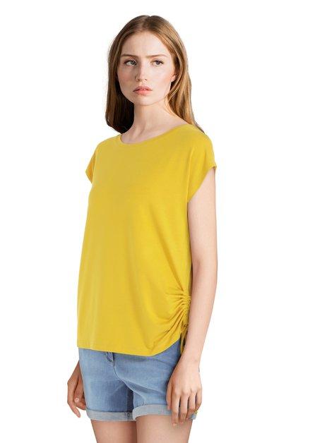 T-shirt jaune avec lacet
