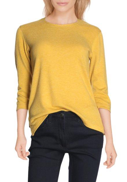 T-shirt jaune-ocre en tricot