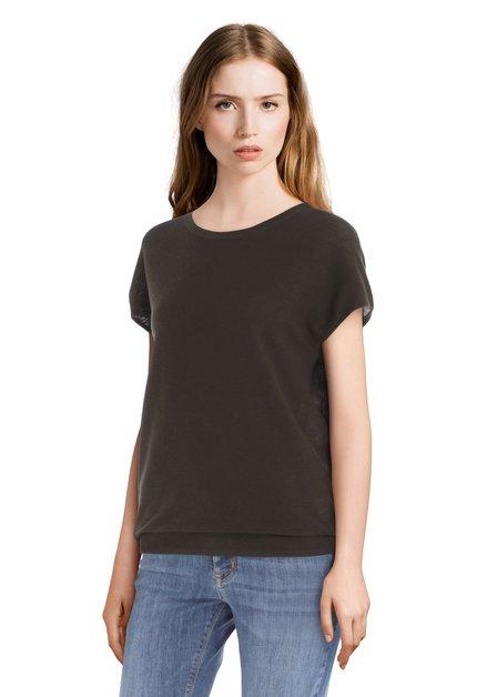 T-shirt kaki tricoté