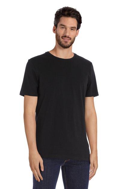 T-shirt noir à col rond