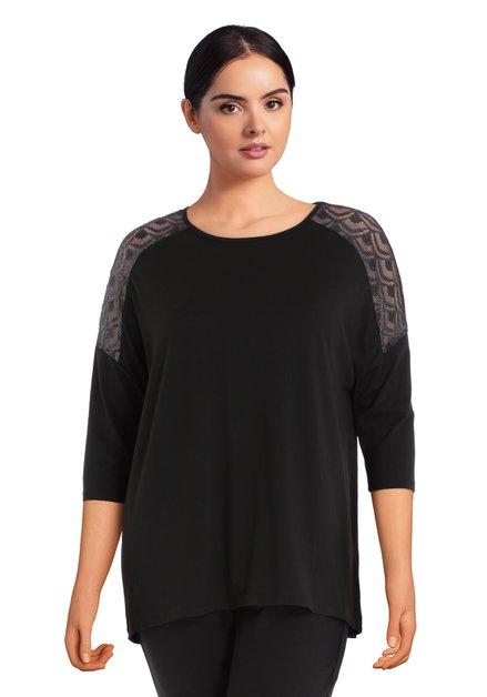 T-shirt noir avec dentelle