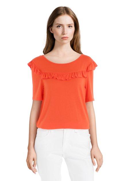 T-shirt orange avec volants