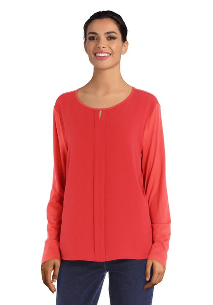 T-shirt orange en tissu texturé