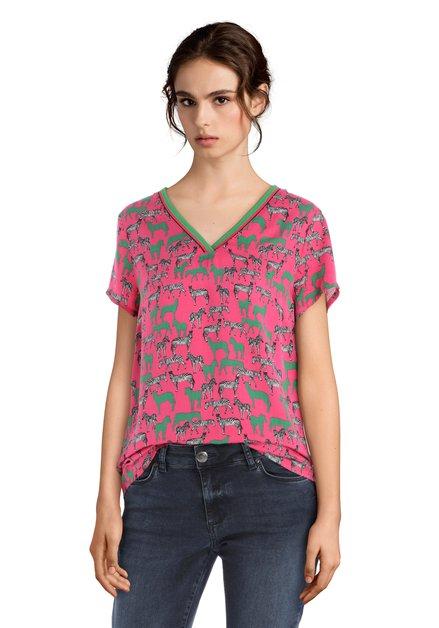 T-shirt rose avec zèbres