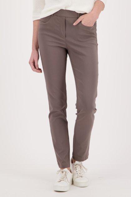 Taupe legging in stretchstof