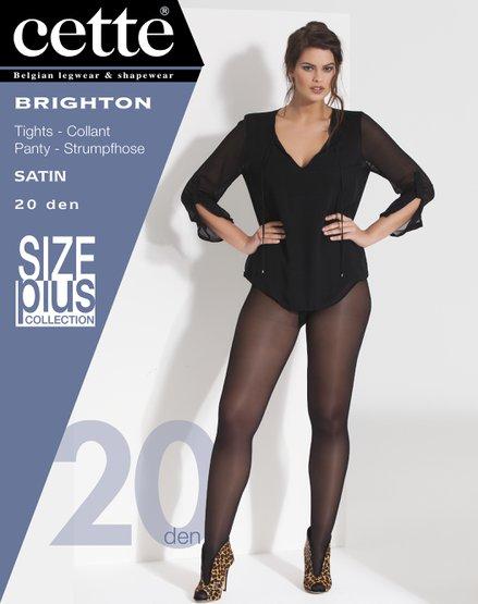 Taupe panty size plus Brighton - 20 den