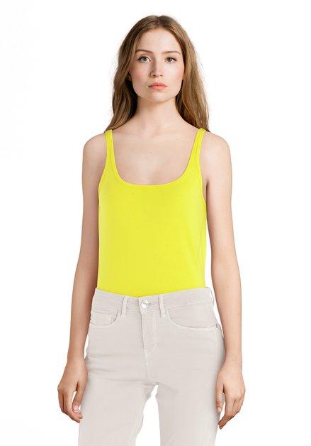 Top jaune en coton