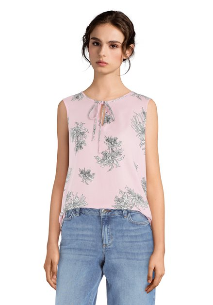 Top rose clair à motif orientale