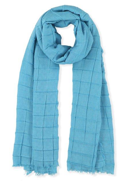 Turquoise sjaal met plooitjes