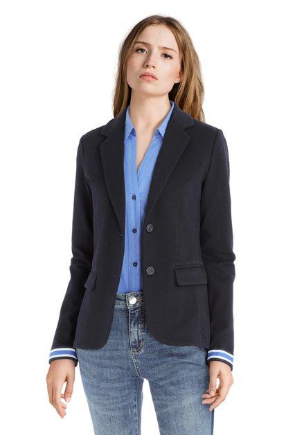 Veste blazer bleu foncé à effet structuré