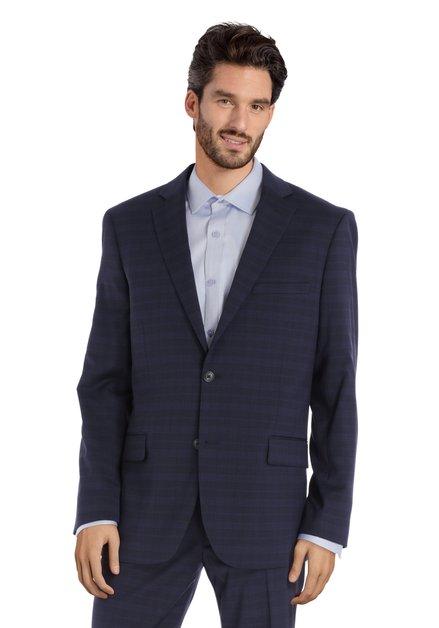 Veste bleu foncé carreaux - Alabama - comfort fit