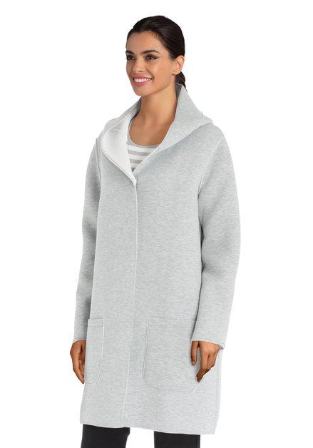 Veste grise à capuche