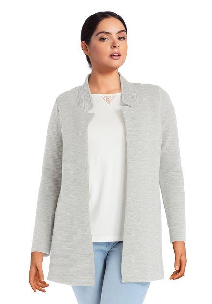 Veste grise à tissu structuré