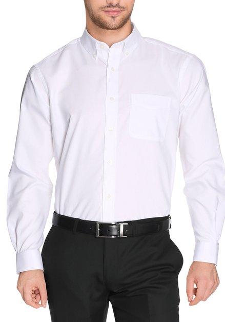 Wit effen hemd - comfort fit