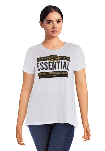Wit 'Essential' T-shirt met ronde hals