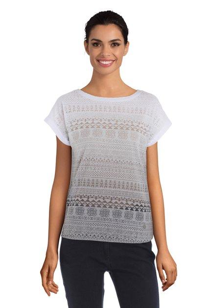 Wit-grijs T-shirt met kleurverloop
