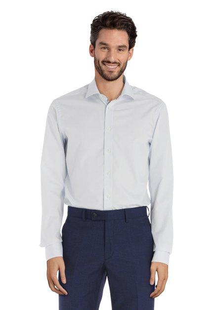 Wit hemd met blauwe streepjes - slender fit