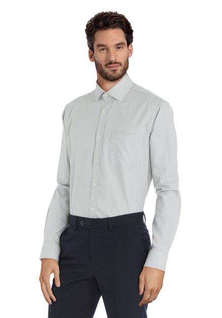 Wit hemd met groen motief  – Regner - regular fit