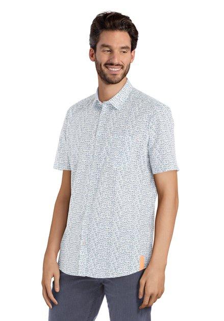 Wit hemd met lettermotief