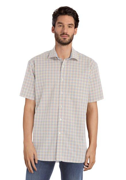 Wit hemd met ruiten - Corneel – comfort fit
