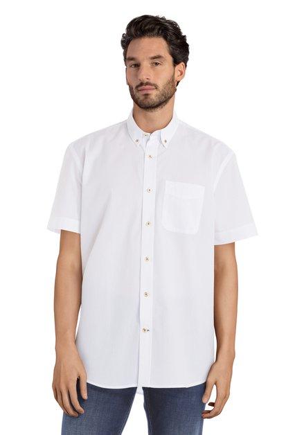 Wit hemd met structuur - Carlos – comfort fit