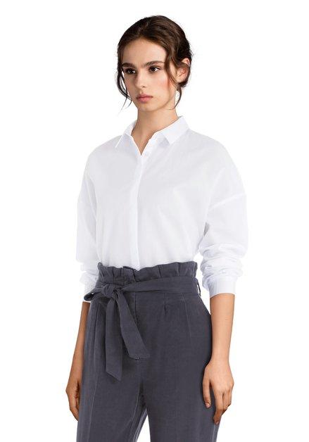 Wit katoenen hemd