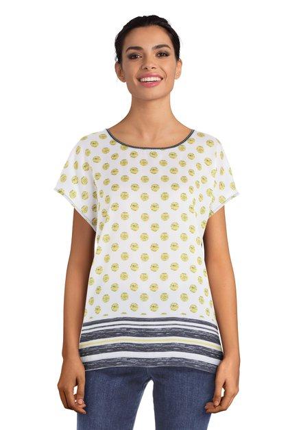 Wit T-shirt met gele bollen